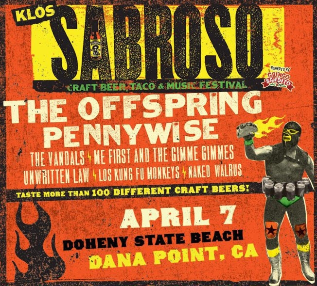 Dana Point Sabroso Music Taco Festival 2018 poster