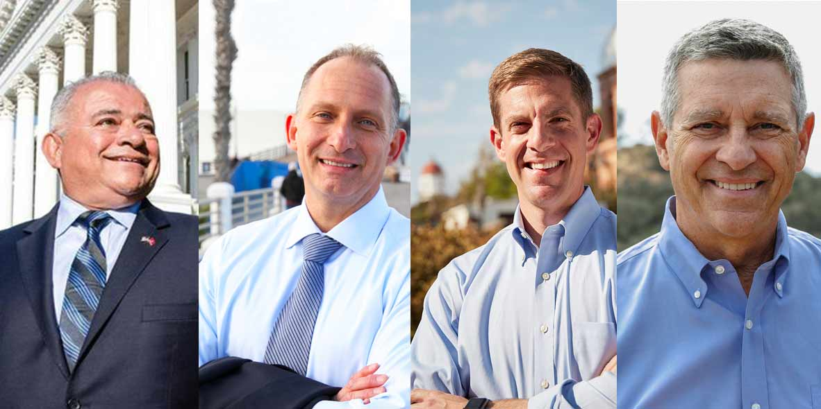 photos of candidates Rocky Chavez, Brian Maryott, Doug Applegate, Mike Levin