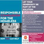 Photo of Dana Point Homeless Task Force Flyer Responsible Compassion