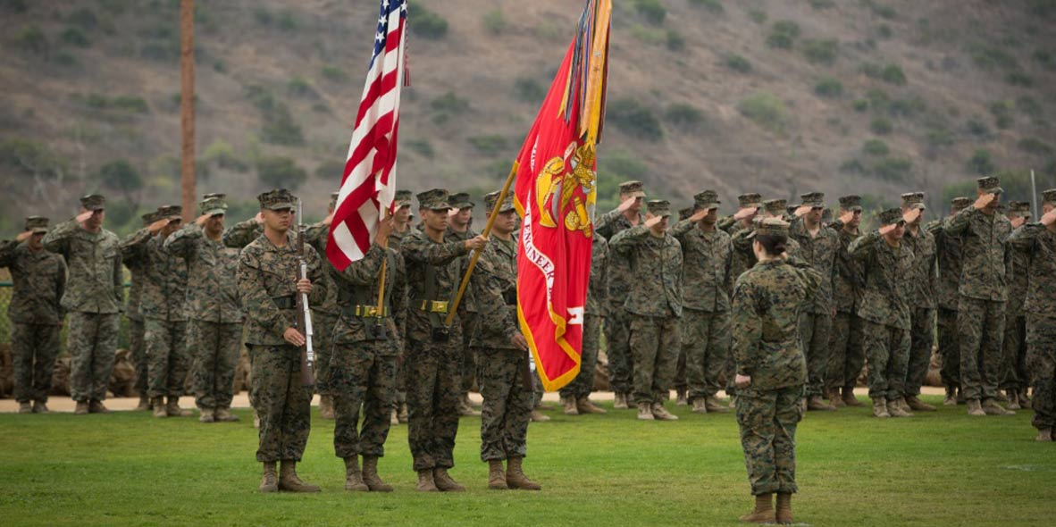 Dana Point Camp Pendleton Color Guard Photo
