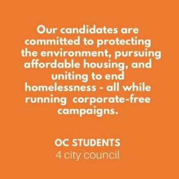Orange County Students for City Council graphic