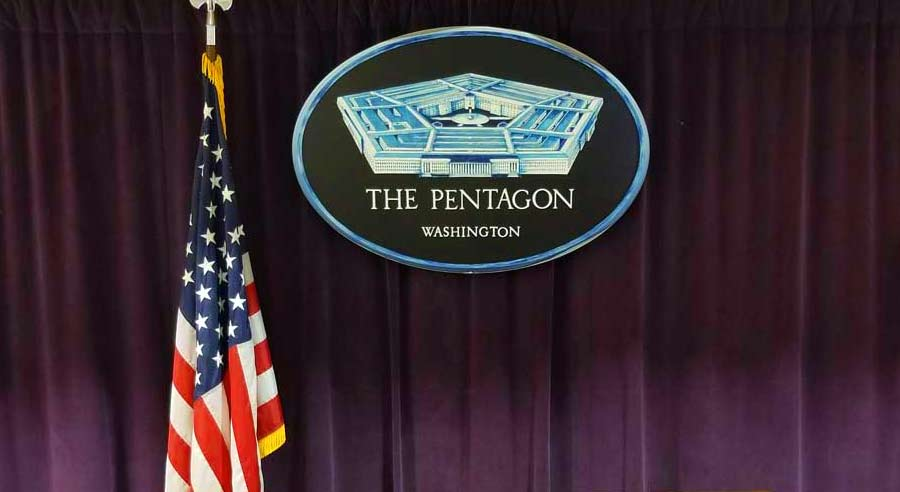 Pentagon podium photo