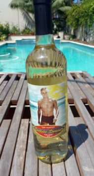 Photo of Tab Hunter wine bottle